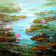 Edge Of The Lily Pond Poster by Barbara Pirkle