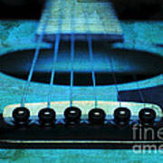 Edgy Abstract Eclectic Guitar 16 Poster by Andee Design