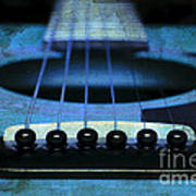 Edgy Abstract Eclectic Guitar 17 Poster