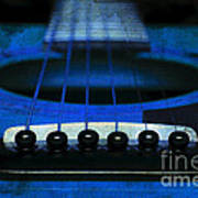 Edgy Abstract Eclectic Guitar 18 Poster by Andee Design