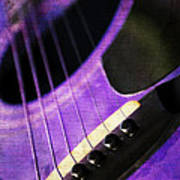 Edgy Purple Guitar  Poster