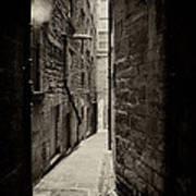 Edinburgh Alley Sepia Poster
