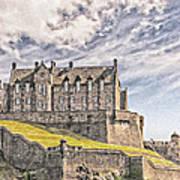 Edinburgh Castle Painting Poster