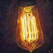Edison Bulb Poster by Ann Moeller Steverson