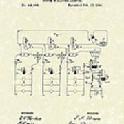Edison Lighting System 1891 Patent Art Poster by Prior Art Design