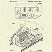 Edison Locomotive 1892 Patent Art Poster by Prior Art Design
