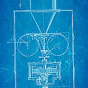 Edison Motion Picture Camera Patent Art 1897 Blueprint Poster