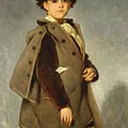 Edmond Dehodencq Wearing An Inverness Cape Poster