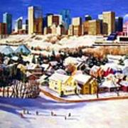 Edmonton In Winter Poster