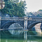 Edo Castle And Nijubashi Bridge Poster
