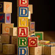 Edward - Alphabet Blocks Poster