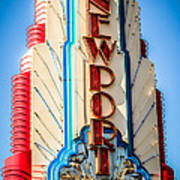 Edwards Big Newport Theatre Sign In Newport Beach Poster