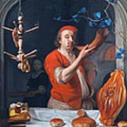 Een Bakker Die Zijn Hoorn Blaast Poster