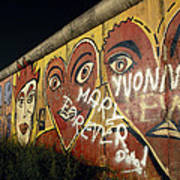 Berlin Wall Hearts Poster