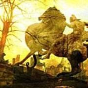 Eerie Horseman Poster