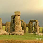 Eerie Stonehenge 2 Poster by Deborah Smolinske