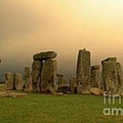 Eerie Stonehenge Poster