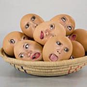 Eggs In A Basket Poster