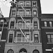 Egress Building In Black And White Poster