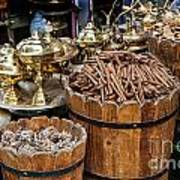 Egyptian Market Stall Poster