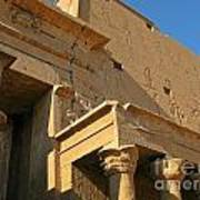 Egyptian Temple Architectural Detail Poster