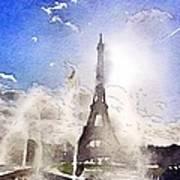 Eiffel during summer Poster