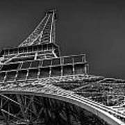 Eiffel In Black And White Poster