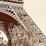 Eiffel In Sepia Poster