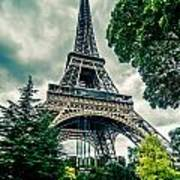 Eiffel Tower In Hdr Poster