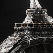 Eiffel Tower Paris France Night Lights Poster by Patricia Awapara