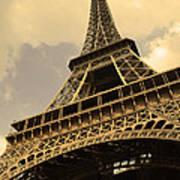 Eiffel Tower Paris France Sepia Poster by Patricia Awapara
