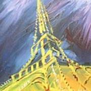 Eiffel Tower Paris Night Poster