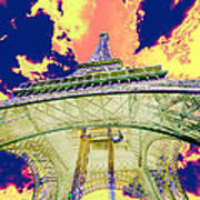 Eiffel Tower Psycho Version Poster
