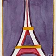 Eiffel Tower Purple Red Poster