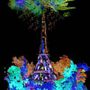 Eiffel Tower Topiary Poster