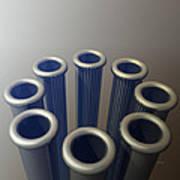 Eight Metallic Tubes Poster