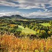Eildon Hills In Autumn Poster