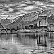 Eilean Donan - A Reflection Without Colour Poster