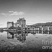 Eilean Donan Castle Black And White Poster
