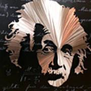 Einstein Poster by Chris Mackie