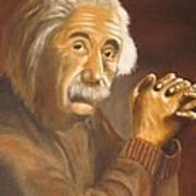 Einstein - Original  Oil Painting Poster