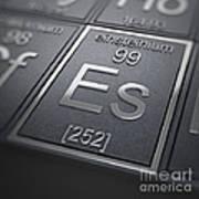 Einsteinium Chemical Element Poster