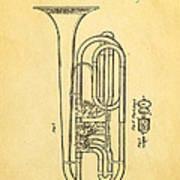 Eisenbrandt Cornet Patent Art 1854 Poster