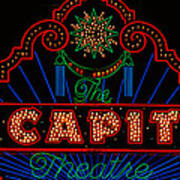El Capitan Theatre Sign In Hollywood Poster