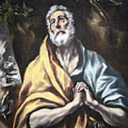 El Greco's The Repentant Saint Peter Poster