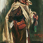 Elderly Moroccan Jew, 1867 Oil On Canvas Poster