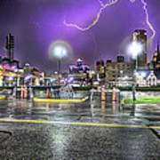 Electric Detroit  Poster by Nicholas  Grunas