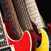 Electric Guitars Closeup Poster