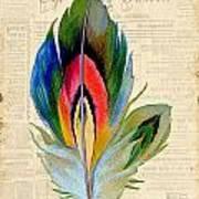 Elegant Feather-b Poster