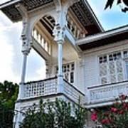 Elegant White House And Balcony Poster